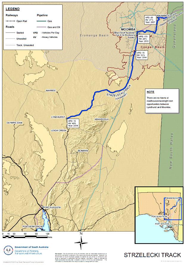 Strzelecki Track Map image