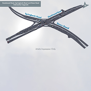 Goodwood, Springbank and Daws Road Intersection Upgrade image