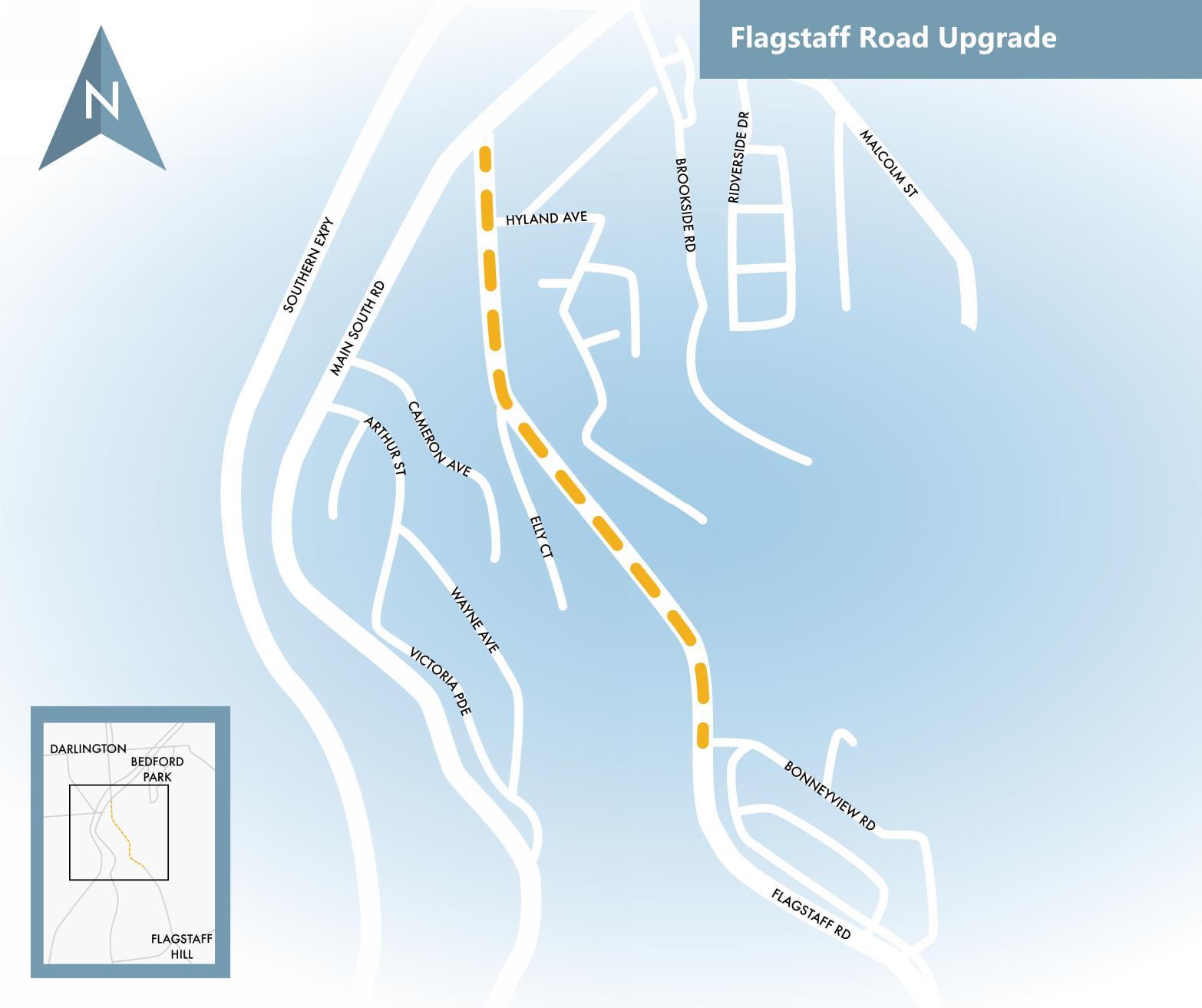 Flagstaff Road map