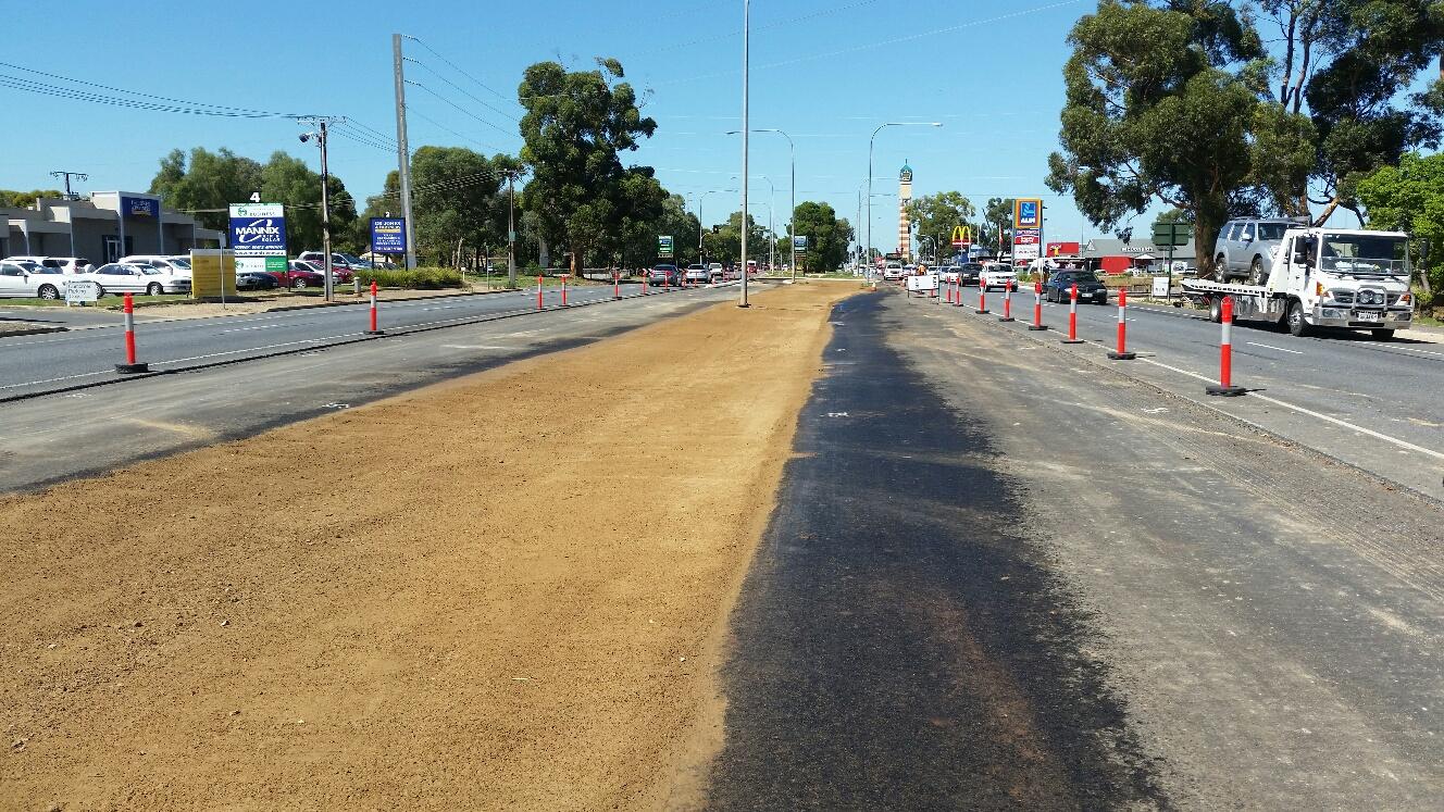 Main North Road Median Upgrade January 2017