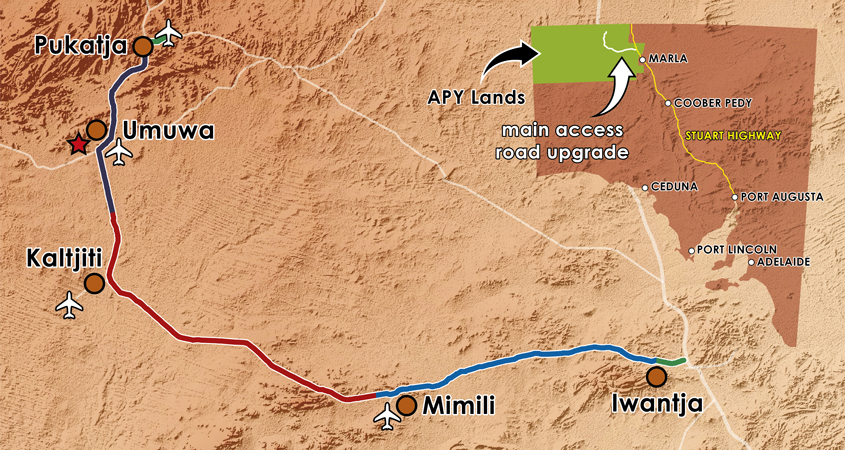 APY Lands map