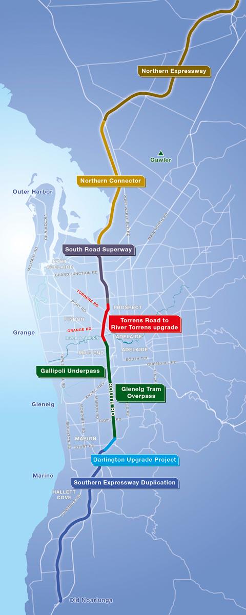North South Corridor Map
