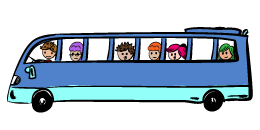 Cartoon bus.